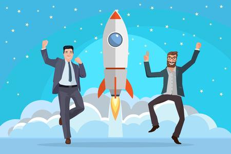 business start concept Illustration