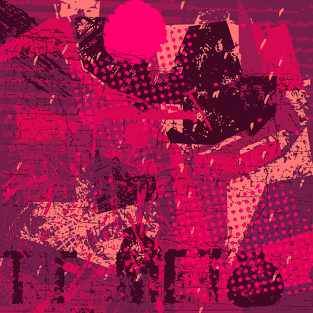 red artistic neo-grunge style abstract backgrounds, made with hand drawn textures and brushes Illustration