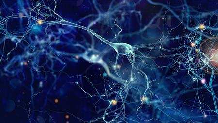 Concepto de células de neuronas Foto de archivo - 85341064