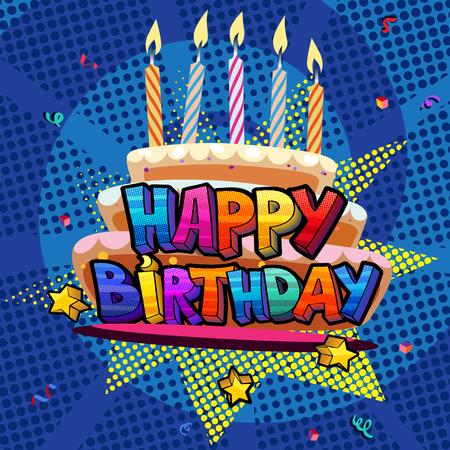 Alles Gute zum Geburtstagskarte Standard-Bild - 86817467