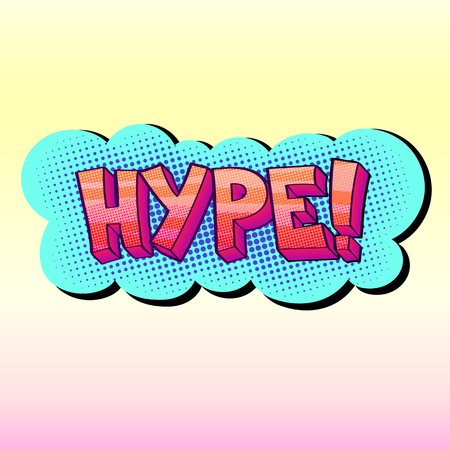 trendy Hype sticker Illustration
