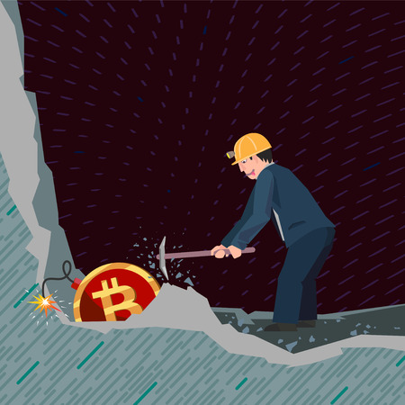 A conceptual business illustration bitcoins Ilustrace