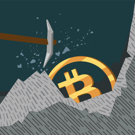 conceptual business illustration bitcoins