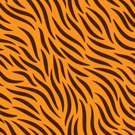 Abstract seamless pattern on orange background illustration.