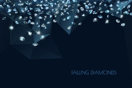 błyszczące diamenty w tle