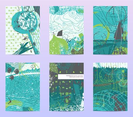 set of art-cards templates Vector illustration.