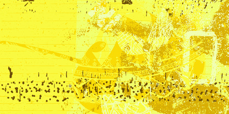 Abstract yellow artistic grunge style design Illustration
