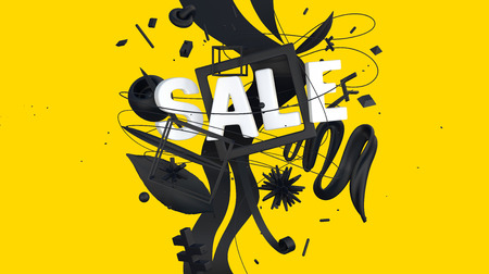 contrast sale sign Stock Photo