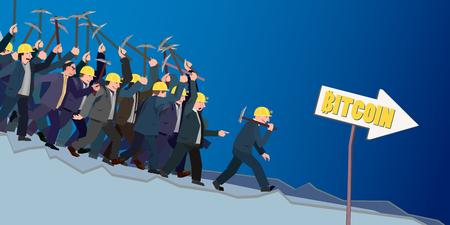conceptual business illustration bitcoins
