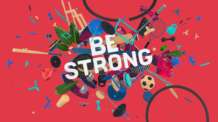 Be strong card