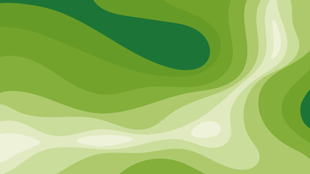 topographic background with layered green surface, decorative texture or backdrop for your design Illustration
