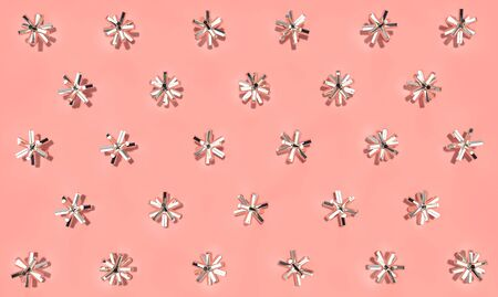 Abstract decorative background with glossy metal stars