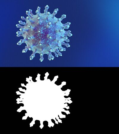 New deadly coronavirus concept with alpha channel