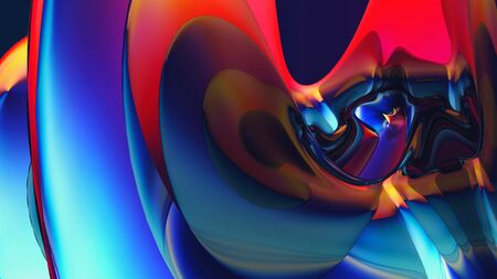 Colorful digital background with beautiful curved surface Standard-Bild - 139188849