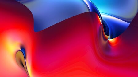 Colorful digital background with beautiful curved surface