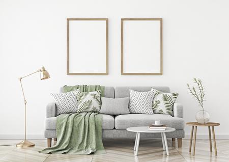 ... In the scandinavian style livingroom. 3d rendering. Stock fotó