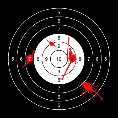 bloodstains: wall target for shooting with bloodstains