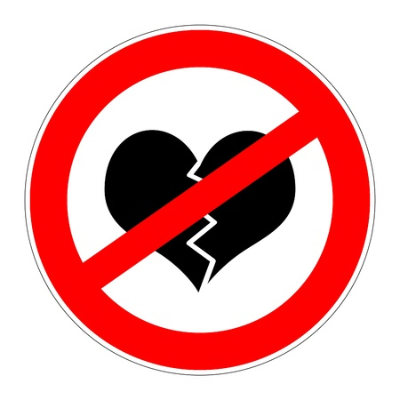 prohibition traffic sign meaning no broken hearts