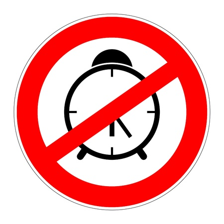 prohibition traffic sign meaning no alarm clock Stock Photo - 17898658