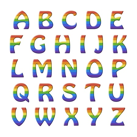 Roman Alphabet Set For Children With Relief Green Letters Covered