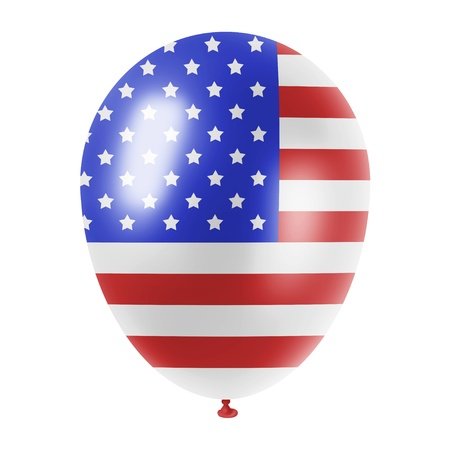 balloon with an american flag imprint on it photo