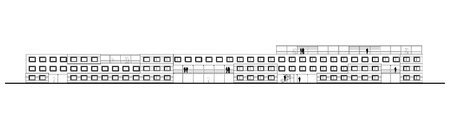 architect drawing: architect drawing of a very long residential building