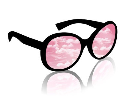 woman in pink glasses Stock Photo - 21220718