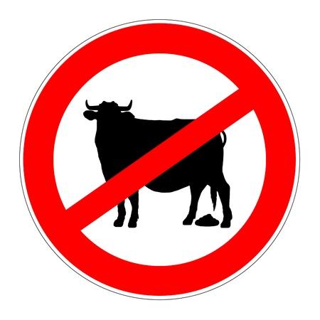Panneau de signalisation d'interdiction signifie pas des conneries Banque d'images - 21488528