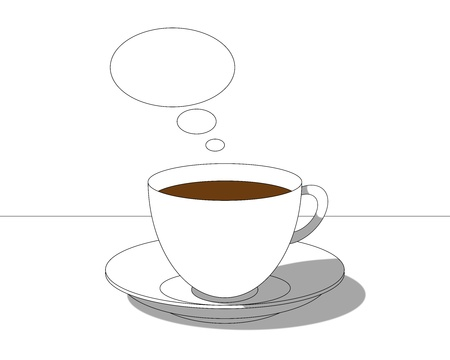 vacant: cup of coffee on the table with a vacant text bubble