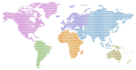 Continents colors little men pattern world map stock photo picture continents colors little men pattern world map stock photo 22975727 gumiabroncs Image collections