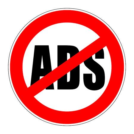 Interdiction panneau de signalisation qui signifie pas de publicité Banque d'images - 31805774