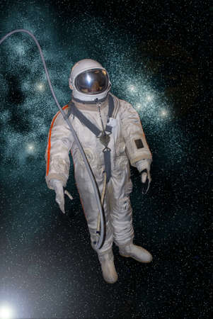 astronaut on the star background