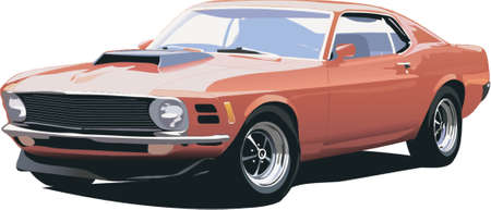 old american car Illustration
