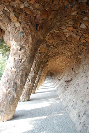 guell: columns in Guell park Stock Photo