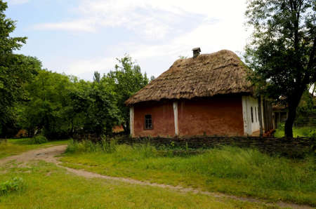 the folk ukrainian house in outdoor museum of folk architecture