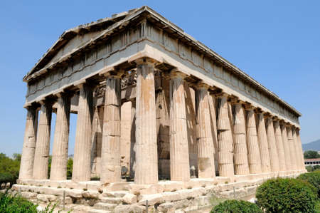 the Temple of Hephaestus in Athens, Greece