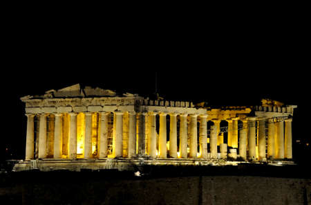 the night view of Parthenon