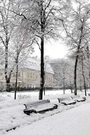snowy street Stock Photo - 4337667