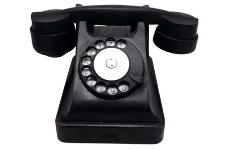 vintage black rotary telephone Stock Photo - 4431421