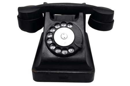 vintage black rotary telephone Stock Photo - 4431421