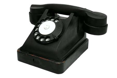 black rotary telephone Stock Photo - 4596832