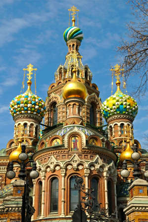 cupola: Church of the Savior on Spilled Blood in St. Petersburg, Russia Stock Photo