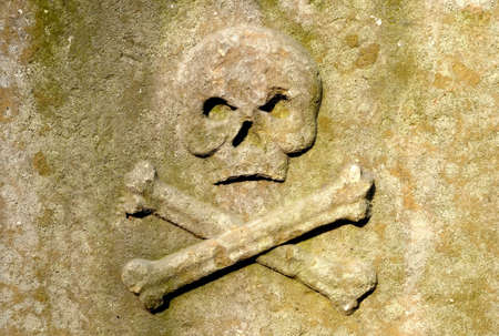 Skull and Crossbones on the wall Stock Photo - 4866808