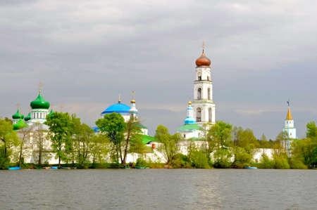 kazan: the Virgin Monastery of Raifa before storm, Kazan, Russia
