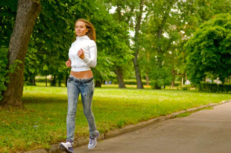 young running woman Stock Photo - 5266278
