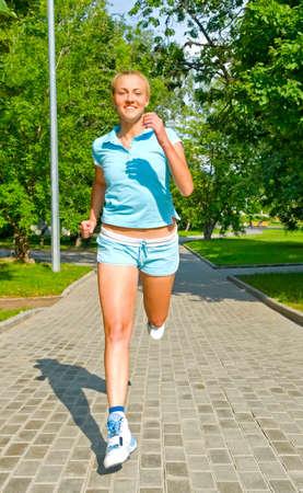 girl running in the park Stock Photo - 5361445
