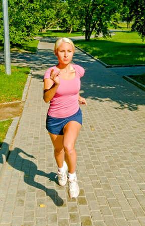 running girl in the park Stock Photo - 5361459