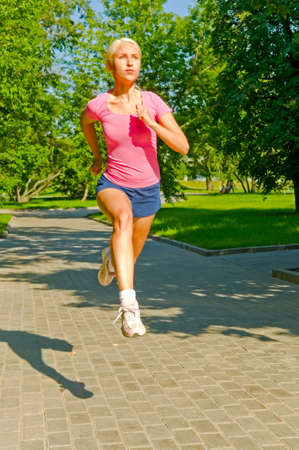 running girl in the park photo