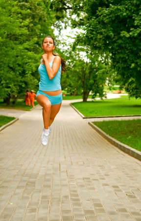 woman running in the park Stock Photo - 5626015