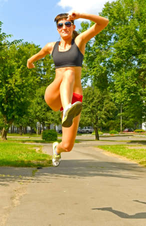 woman running in the park Stock Photo - 5626004